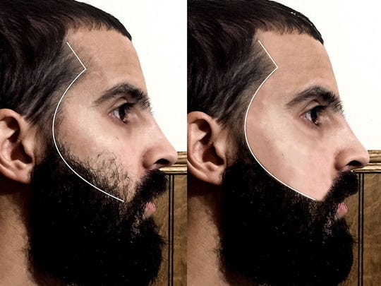 Ajay Puri's facial grooming app ShapeMeUp shows a before-and-after