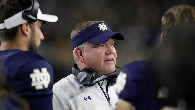 Notre Dame coach Brian Kelly and his players have engineered a big turnaround this season.