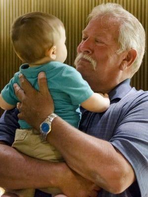 John Wendling with grandson Tyson.