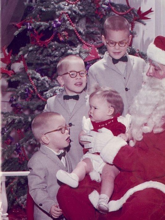 Wilson family photo with Santa