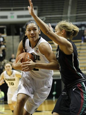 FILE -- Purdue's Whitney Bays scored 16 points in leading the Boilers to a win over Wright State on Sunday.