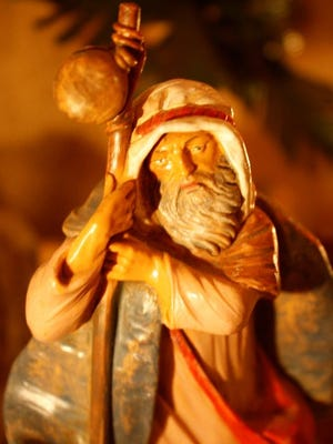 A closer look at one of the handcrafted nativity pieces made in the foothills of Tuscany. This shepherd is one of nearly 500 figurines the Dattilo family of Green Township displays as part of their annual Christmas nativity.