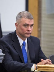The city of Asheville is suing for the right to fire Capt. Mark Byrd, seen in this file photo.