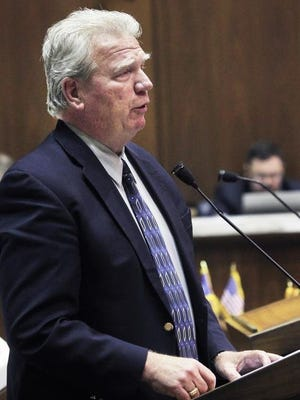 Former House Speaker Pro Tem Eric Turner debates a gay marriage ban in 2014. House Speaker Brian Bosma has submitted sweeping ethics reforms in response to scandals surrounding Turner and others.