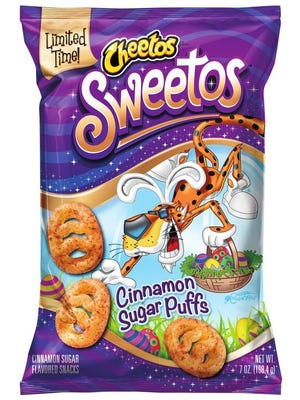 Cheetos is tapping the Easter market with Sweetos