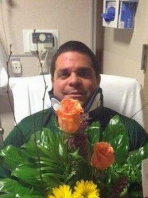 Darryl Isaacs in his hospital room.