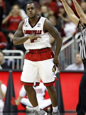 Former University of Louisville guard Chris Jones against Clemson.