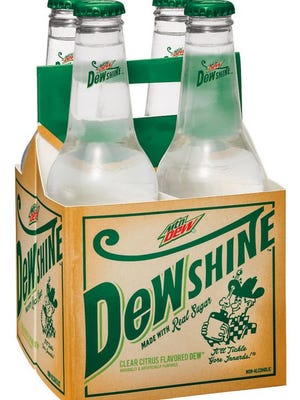 Mountain Dew DewShine will be available in two package sizes: 12-oz. single serve glass bottles and 4-pack 12-oz. glass bottles. It will be available in large and small format retail outlets, and it will be on shelf in the soft drink section.