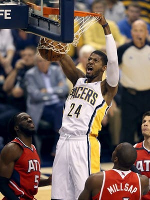 Paul George feels confident that he's ready to do this. Pacers? Not quite yet.