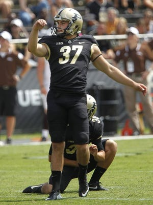 Kicker Paul Griggs and Purdue's special teams unit struggled during Saturday's kicking scrimmage.