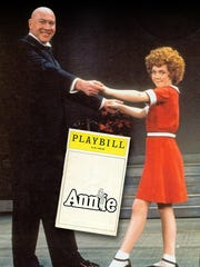 """""""Annie,"""" with 13-year-old Andrea McArdle in the title role and Reid Shelton as Daddy Warbucks, opened on Broadway in April 1977 and ran until September 1981."""