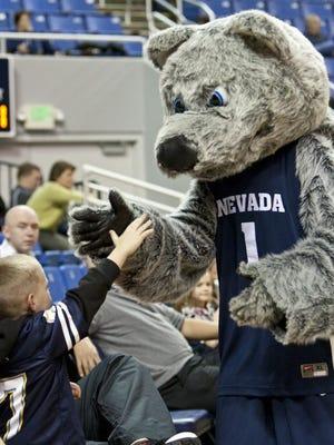 Wolf Pack mascot.