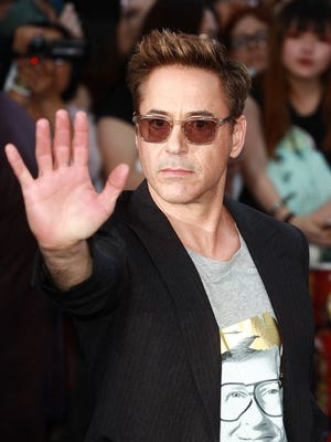 "Robert Downey Jr. attends ""The Avengers: Age Of Ultron"" European premiere at Westfield London on April 21."