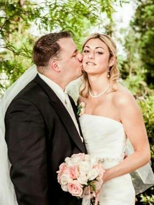 Sean and Lauren Dunbar on their wedding day.