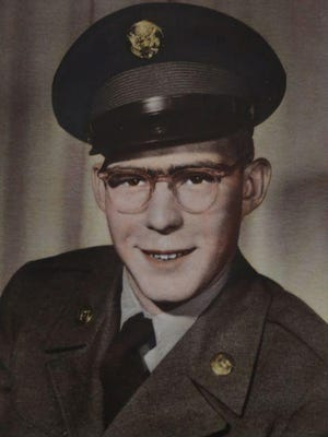 Korean-era U.S. Army veteran Merlin Stahel is shown as he served in the 1950s.