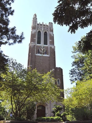 Beaumont Tower on the Michigan State University campus. A former MSU employee has pleaded guilty to embezzling more than $100,000 from the university.