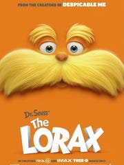 Dr. Seuss' The Lorax will be shown on a giant screen at Chimney Rock Park Saturday.