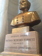 This bust of Nathan Bedford Forrest, a Confederate