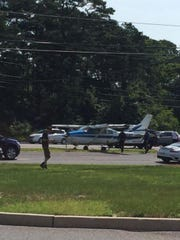 A Cessna plane made an emergency landing on Route 72 in Stafford on Sunday morning.
