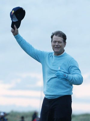 Five-time British Open champion Tom Watson bid farewell at St. Andrews on Friday.