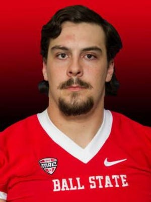 Ball State offensive lineman Ian Anderson.