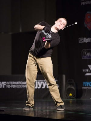 Jake Elliot competing in the World Yoyo Contest in Japan.