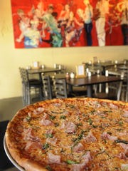 A pie served up at Five Points Pizza.