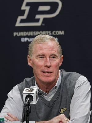 Purdue athletic director Morgan Burke