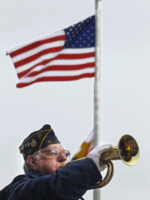 On Saturday, Ralph Ward played the bugle for the last time at a veteran's funeral.