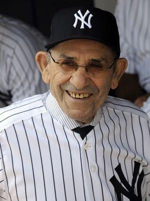 Yogi Berra won 10 World Series championships with the New York Yankees.