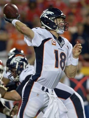 Broncos quarterback Peyton Manning