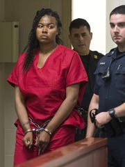 Veronica Lewis appears in court in this file photo.