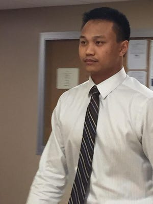 Joseph Patterson walks into court in September in Canton. He has been convicted of killing 2-year-old Tyrese Ruffin.