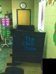 One mother says her autistic son was placed in this structure when he became excited in the classroom.