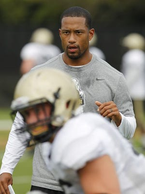 Purdue linebackers coach Marcus Freeman