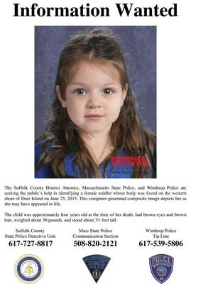 """A computer-generated image of Bella Bond, who was known as """"Baby Doe"""" while authorities scrambled to identify her."""