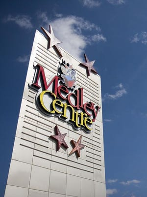 A sign for the Medley Centre mall.