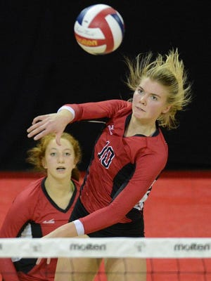 Newman Catholic won its third straight D4 volleyball championship last fall.
