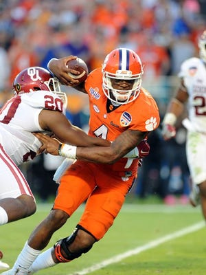 Clemson defeats Oklahoma to advance to the national championship game.