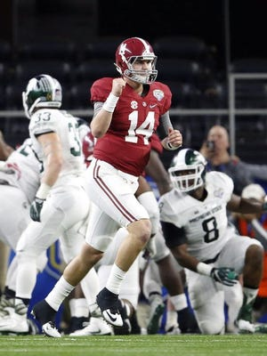 Alabama defeated Michigan State 38-0 to advance to the national championship game against Clemson.