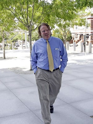 St. George businessman Jeremy Johnson arrives at the federal courthouse in Salt Lake City June 30, 2015