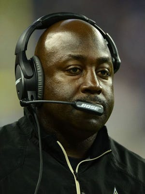 Auburn announced the hiring of New Orleans Saints secondary coach Wesley McGriff Thursday. McGriff, shown here in 2014, has SEC coaching experience at Ole Miss and Vanderbilt.