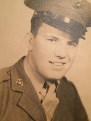 Bill Blevins of Westland served in the U.S. Marine Corps during World War II.