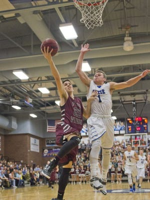 Pine View's Cody Ruesch goes for a layup in a game against Dixie. The Panthers won 67-66 on a last-second shot.