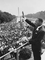 Martin Luther King, Jr. shown in Washington on Aug. 28, 1963.
