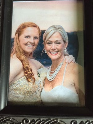 Stacey Weathers (right) with her daughter Emilie Boman. Weathers was killed in a tragic accident on Oct. 3, 2015.