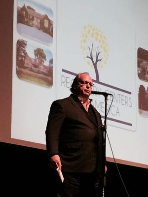 J. Brian O'Neill, founder and CEO of Recovery Centers of America, speaks in Haddonfield last year.