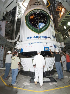 An Atlas V rocket is scheduled to lift off Friday at 8:38 a.m.