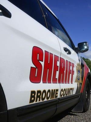 Broome County Sheriff's vehicle.