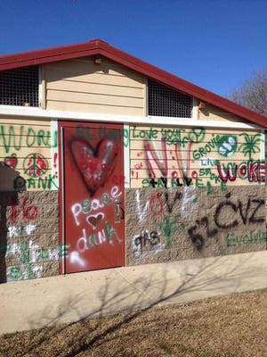 Three juveniles have been charged after graffiti was discovered on a building and other structures at Martin Park Airview Terrace Park.